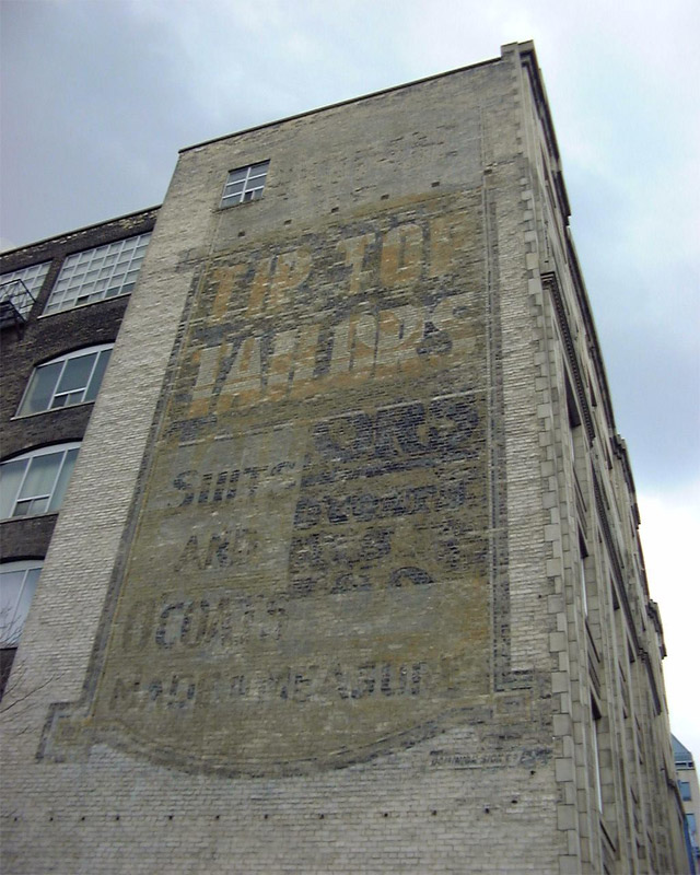 Toronto Ghost Signs Tip Top Tailors