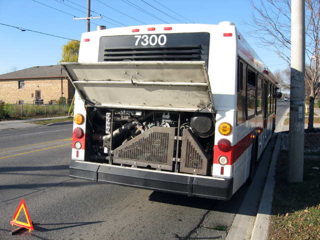 Broken Down TTC Bus