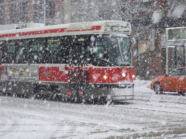TTC Streetcar Snow Toronto