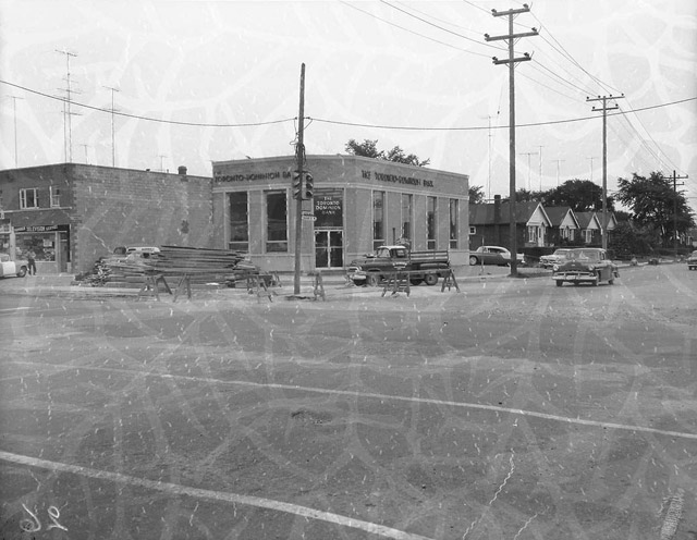 Islington and Bloor Street West TD South East Corner 1958