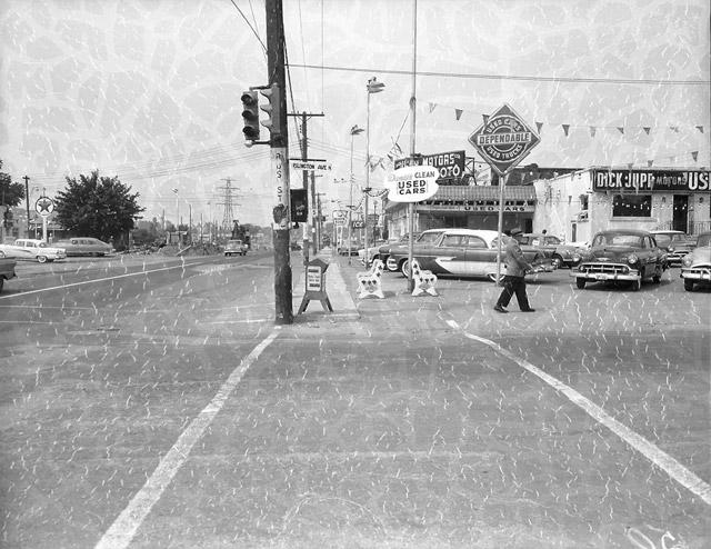 Islington and Bloor Street West Looking West 1958