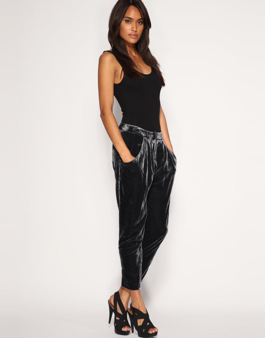 ASOS Velvet Peg Trousers