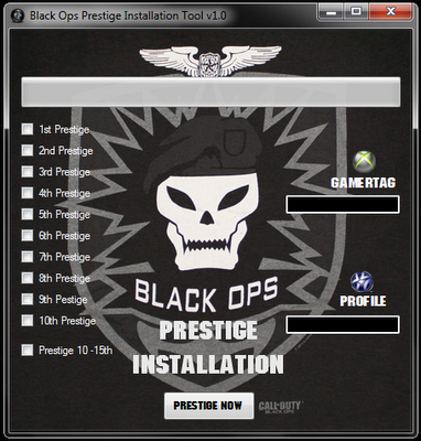 cod black ops prestige badges. call of duty black ops