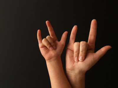 "I Miss You Sign Language Asl sign for ""i love you""."