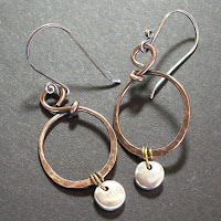 jewelry copper earrings sterling silver brass mixed metals