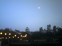 名古屋城と名月