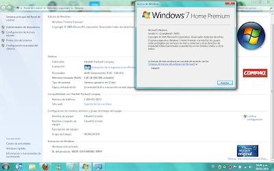 windows 7 home premium Captura
