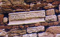Detall façana Santa Maria de Tagamanent