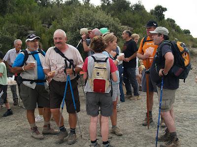 Avituallament als Camps de Cal Criba amb l'amic Joan de Salelles