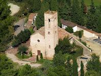 Parròquia de Sant Joan de Matadepera des del Turó de Sant Joan