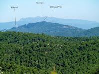 El Farell, el Pic del Vent i el Montseny