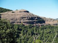 La Roca del Corb des de la pujada al Puig Codina