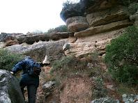 Pujant les cingleres orientals del Pla de Bages