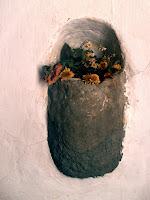 Detall a l'interior del Santuari de Puig Agut