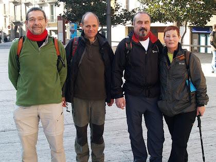 Caminada de Roda de Ter al Puig Agut 2011, amb uns amics de Sant Cugat