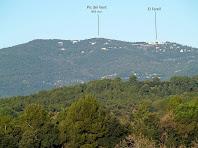 La Serra del Farell vista des de la pista de Ca l'Artigues