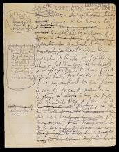 Obscure Précaire, A la recherche du temps perdu, manuscrit autographe BNF, N. a. fr. 16727, f. 124