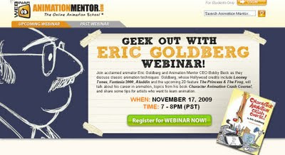 Free Animation Mentor Webinar with Eric Goldberg