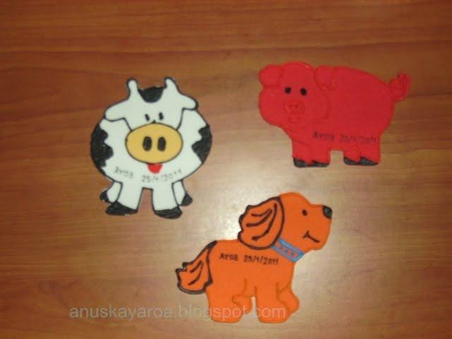 Imágenes de caritas de animales en goma eva - Imagui