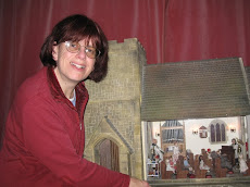 Me, Sarah with my miniature church, St. Hils!