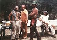 Yosemite Trail Crew, Pleasant Valley, 1980:  Peter Lewis, Jake Ondris, Steve Moore, Bill Gorgas