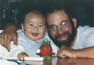 Peter Lewis with his nameskae Peter Muraki, oldest son of David Muraki, August 1988