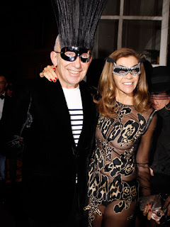 Jean Paul Gaultier and Carine Roitfeld, French Vogue's 90th anniversary party