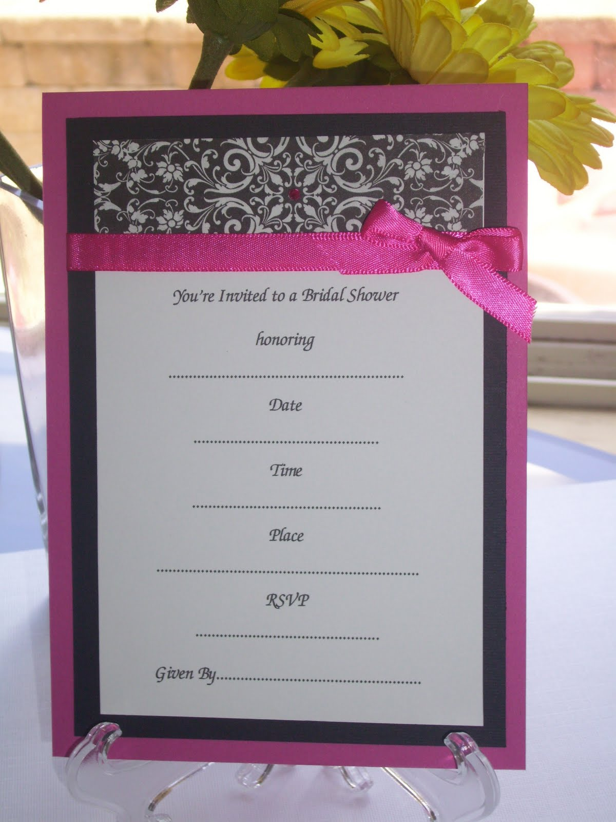 """A Touch of """"YOUnique"""": Pre-Made Invitations are in the works!"""