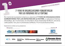 09 1º Foro de Organiz. Comunitarias por Derechos de Victimas 29 May U. de Moron.