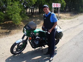 Elvis' Bike with Ukraine Policeman