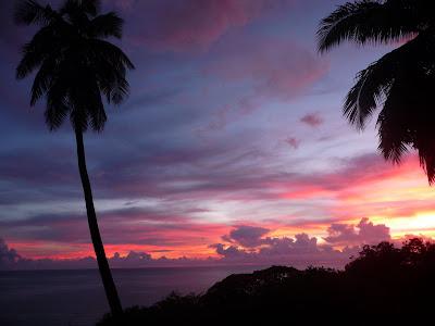 coucher de soleil à Pointe-Noire