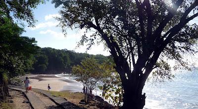 Chemin d'accès à la plage de Leroux