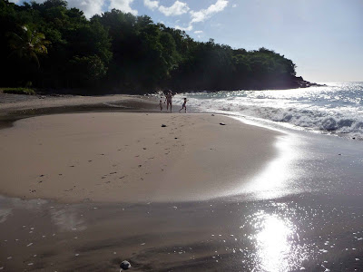 Partie gauche de la plage de Leroux