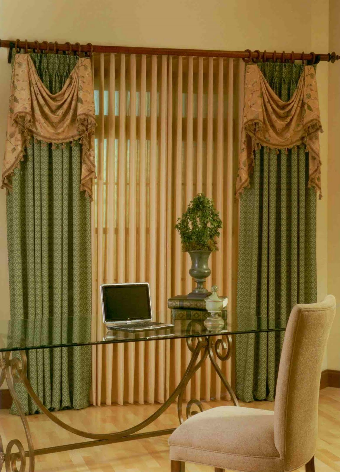 Blinds And Curtains Together Curtains And Vertical Blinds Together Decorate The House With
