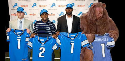 Detroit Lions draft the Cowardly Lion