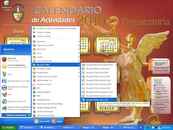 pantalla de windows