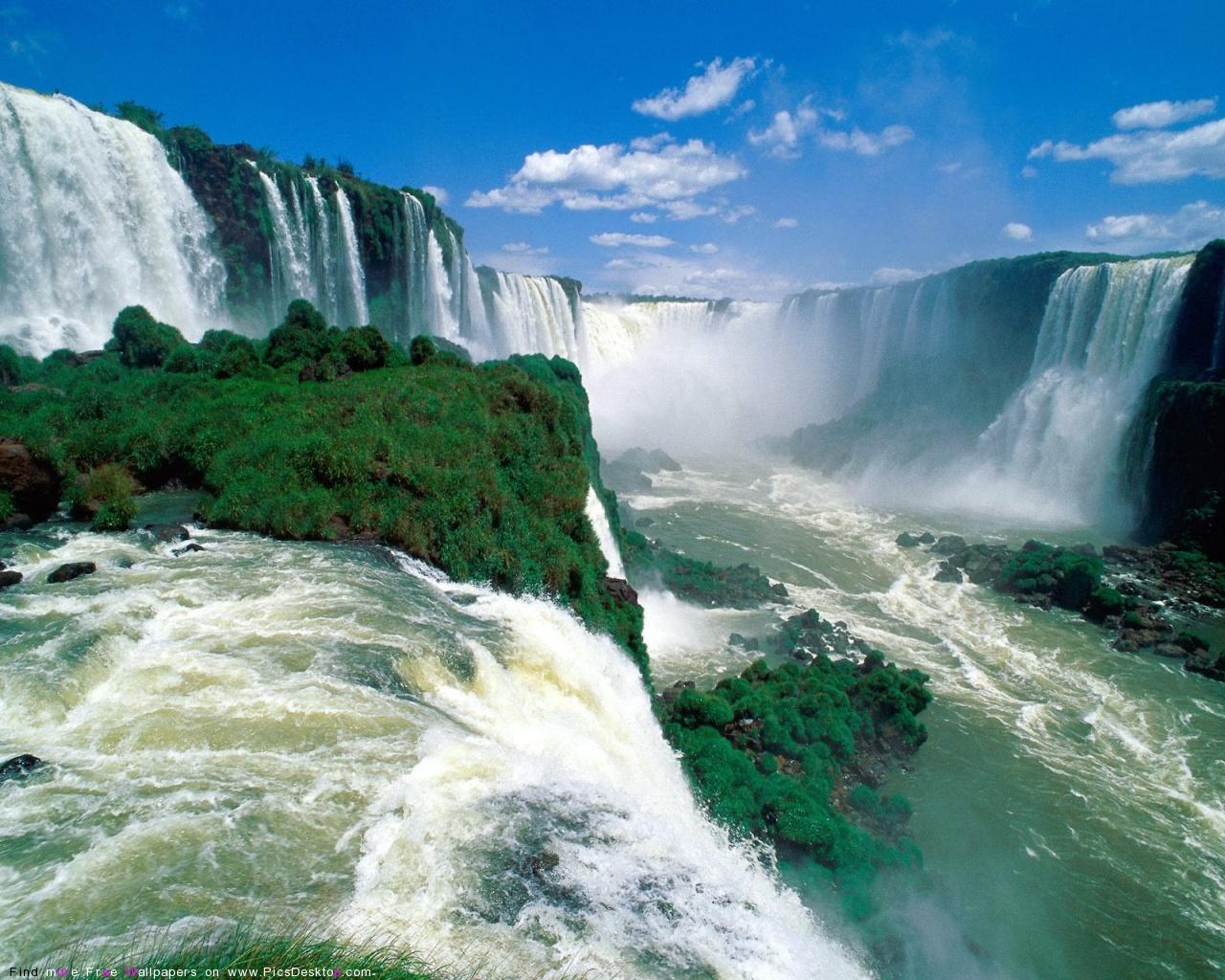 Mountain Waterfalls Wallpapers