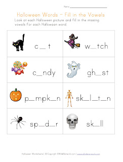 Printable Halloween Worksheets for Children