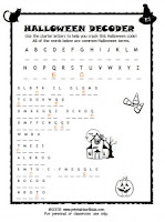 Halloween Preschool Activity Pages