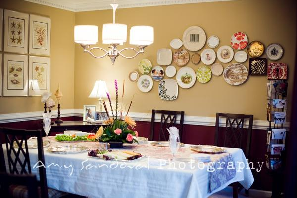 Bright as yellow meghan 39 s request hanging plate arrangements for What to hang on dining room walls