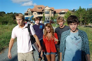 Robert Hoffman, Ashley Tisdale, Carter Jenkins, Henri Young, Regan Young, and Austin Butler - They Came From Upstairs Movie