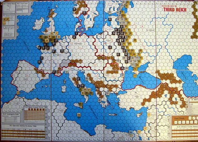 Map And Counters TAHGC THIRD REICH Th Ed - Third reich map 1944
