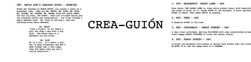 Creaguion - Blog de analisis de guion - escritura guion de cine - crear guion de cine