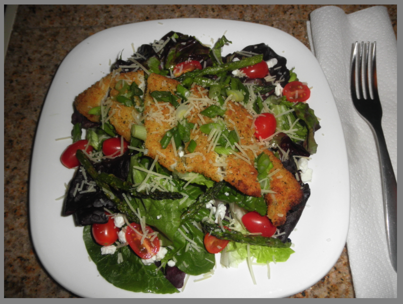 Parmesan Crusted Tilapia Salad | Cooking @Home
