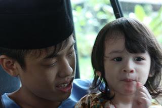 My kids and their cousin in hometown Kedah