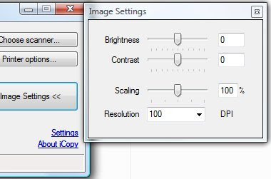 Image setting window