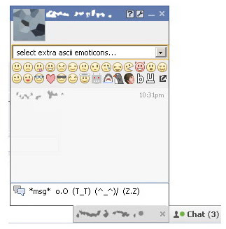 facebook chat emoticon extension for google chrome