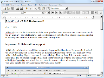 Free Microsoft Word Portable Download Alternative Freeware Abiword
