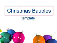 download Christmas baubles powerpoint templates from presentation magazine picture