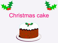 free download Christmas cake powerpoint theme presentation magazine picture